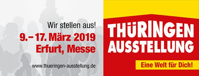 Wir stellen auf der Thüringen-Ausstellung aus - nutzen Sie unsere Messe-Angebote!