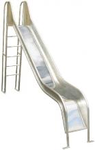 Edelstahlrutsche mit Leiter