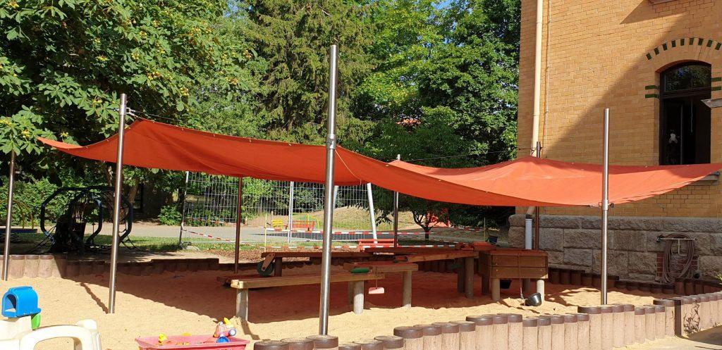 Sonnensegel für Spielplätze in Kindertagesstätten und Schulen - Sonderangebot