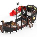 Spielschiff für den Kindergarten und öffentlichen Spielplatz