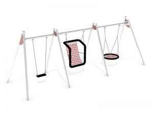 Dreierschaukel - inklusives Spielplatzgerät